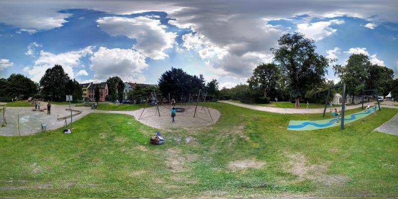 360° Panorama Aufnahme vom Spielplatz Auf dem Dudel
