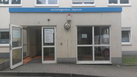 Eingang der Sozialagentur Styrum