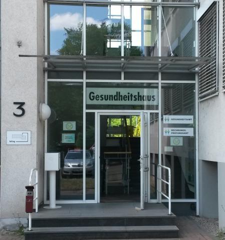 Eingang Gesundheitshaus