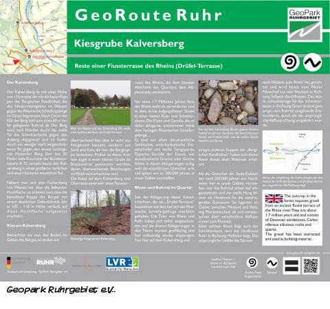 GeoRoute Ruhr - Kiesgrube Kalversberg Mülheim an der Ruhr