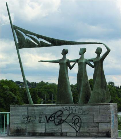 Adolfs, Heinrich: Lebensfreude, Gesamtansicht, Foto: Kunstmuseum Mülheim an der Ruhr, 2001.