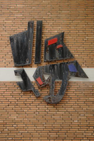Altena, Karl: abstrakte Wandplastik, Foto: Kunstmuseum Mülheim an der Ruhr/ Ralf Raßloff 2008.