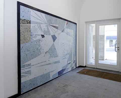 Dahler, Gustav: Wandgestaltung, Foto: Kunstmuseum Mülheim an der Ruhr 2015.