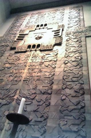 Rasche, Ernst: Detail der Chorwand in St. Mariä Geburt; Foto: Kunstmuseum Mülheim an der Ruhr 2016.