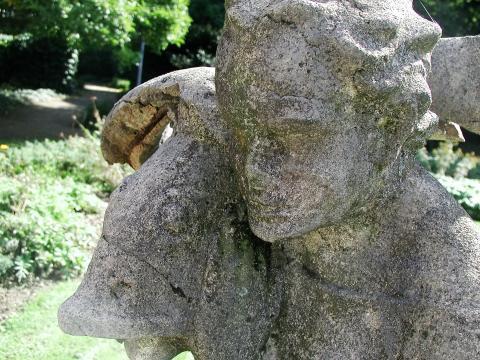 Deus, Willy: Fischer-Brunnen, Detail des Kopfes; Foto: Kunstmuseum Mülheim an der Ruhr 1999.