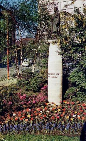 Ehlers, Karl: Jobs (Brunnen), Gesamtansicht ehem. Standort 1967, Foto: Kunstmuseum Mülheim an der Ruhr.