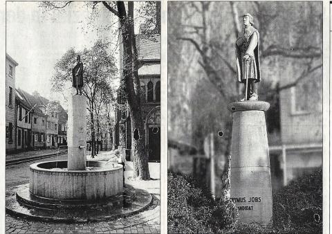 Ehlers, Karl: Jobs (Brunnen), Vor- und Nachkriegsaufstellung , Foto: Gerhard Ribbrock.