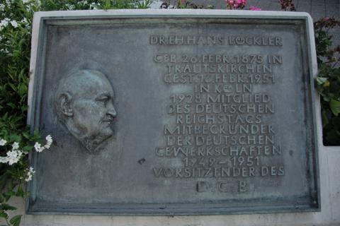 Kühn, Herbert: Hans Böckler - Gedenktafel, Foto: Kunstmuseum Mülheim an der Ruhr/ Ralf Raßloff 2008.