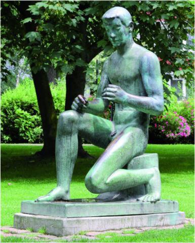 Lickfeld, Hermann: Bogenschütze, Standort Luisental ab 2012; Foto: Kunstmuseum Mülheim an der Ruhr 2012.