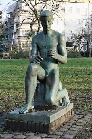 Lickfeld, Hermann: Bogenschütze, Standort Luisental zw. 1950 und 2011; Foto: Kunstmuseum Mülheim an der Ruhr 2006.