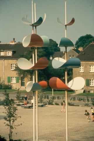 Prasse, Karl: Kinetisches Objekt, Zustand um 1982, Foto: Kunstmuseum Mülheim an der Ruhr o.J.