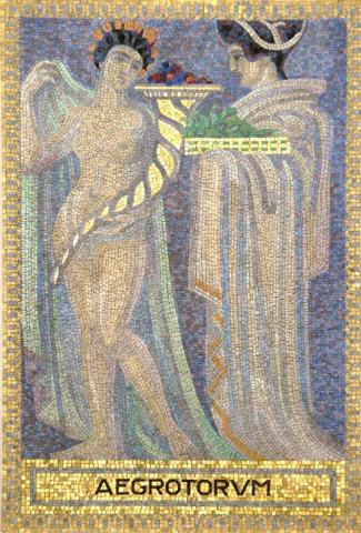 Köppen, Wilhelm: AEGROTORUM (Mosaik 2: Demeter und Persephone); Foto: Kunstmuseum Mülheim an der Ruhr 2001.