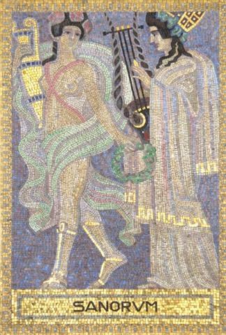 Köppen, Wilhelm: SANORUM (Mosaik 4: Orpheus); Foto: Kunstmuseum Mülheim an der Ruhr 2001.