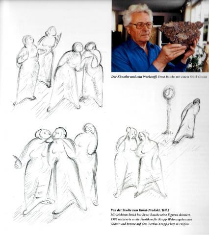 Rasche, Ernst: Kommunikation - Entwurfszeichnungen; aus: Ernst Rasche - Zeichnungen. Der zweite Blick, S. 147.