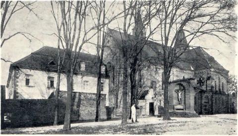 Grabmal der Äbtissin Friderica Agatha von Hinsberg; Foto: Mülheimer Jahrbuch 1961, S. 49.