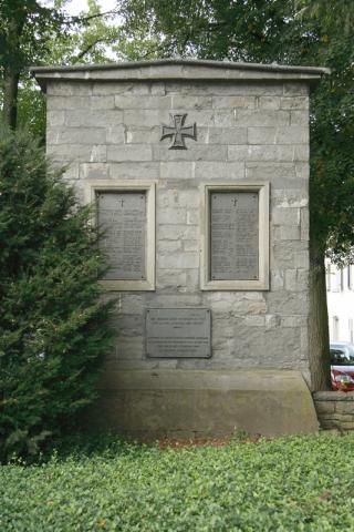 Denkmal für die Gefallenen der Kirchengemeinde im 1. WK; Foto: Kunstmuseum Mülheim an der Ruhr 2007.