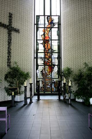 Lindackers, Heinrich: Buntglasfenster, Foto: Kunstmuseum Mülheim an der Ruhr 2015.