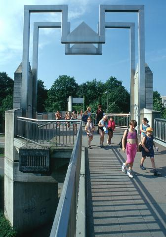 Rasche, Ernst: Kfar-Saba-Brücke, Foto: vor 2001.