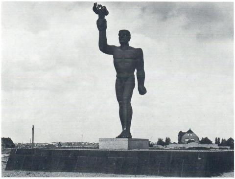 Schreiner, Carl Moritz: Fackelträger; Foto: Mülheimer Jahrbuch 1982.