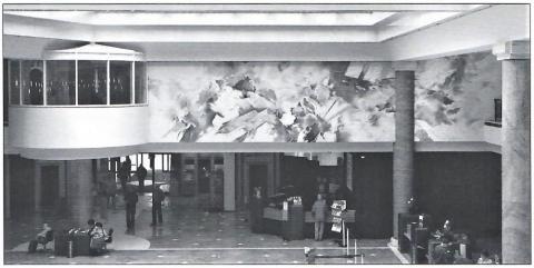 Schubert, Peter: o. T. (abstrakte Wandmalerei); Foto: Schaberg 2008.