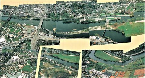 Schernstein, Walter: Luftbildpanorama; Foto: Mülheimer Jahrbuch 1993.