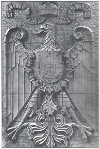 Künne, Arnold: Reichsadler-Relief, 1909; Foto: Stadtarchiv Mülheim an der Ruhr o.J.