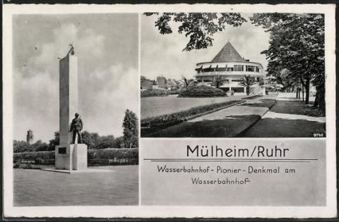 Wasserbahnhof Mülheim an der Ruhr, Ansicht 1930er Jahre; Foto: Stadtarchiv Mülheim an der Ruhr.