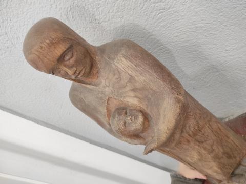Rasche, Ernst: Maria mit Kind; Ansicht von oben; Foto: Kunstmuseum Mülheim an der Ruhr 2020.