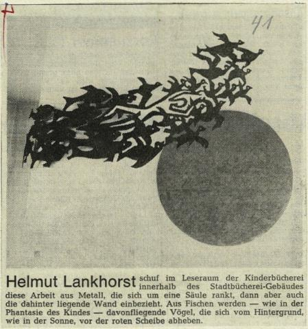 Lankhorst, Helmut: Fisch-Vogel-Schwarm, Foto: RuhrNachrichten, 21.08.1969.
