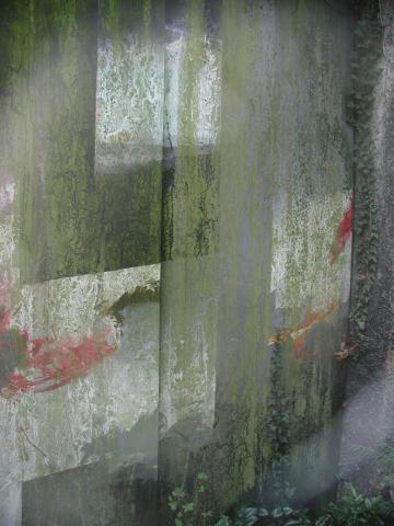 Goppelsröder, Martin: Abstrakte Wandgestaltung, Detail; Foto: Kunstmuseum Mülheim an der Ruhr 1999.