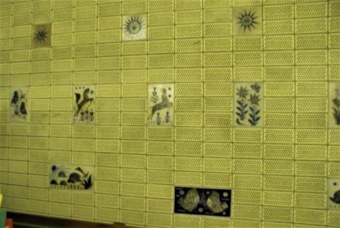 Mühlendyck, Wim: Wandkeramik, Foto: Kunstmuseum Mülheim an der Ruhr 1999.