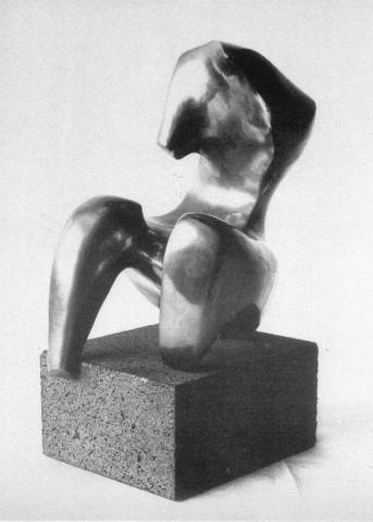 Prasse, Karl: Sitzender Torso - Bronzeminiatur, 1960, Foto: AK: Karl Prasse, Skulpturenmuseum Glaskasten Marl und Städtisches Museum, Mülheim an der Ruhr, 1983, Texte: Uwe Rüth und Karin Stempel.